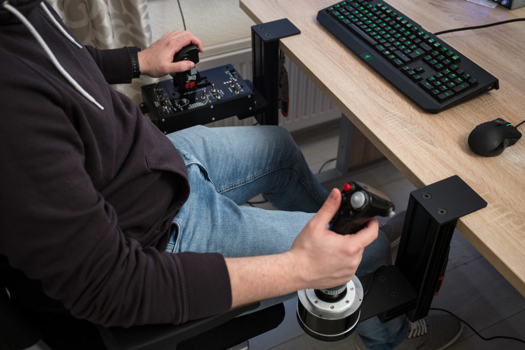 Hotas Joystick Table Mount Monster Tech