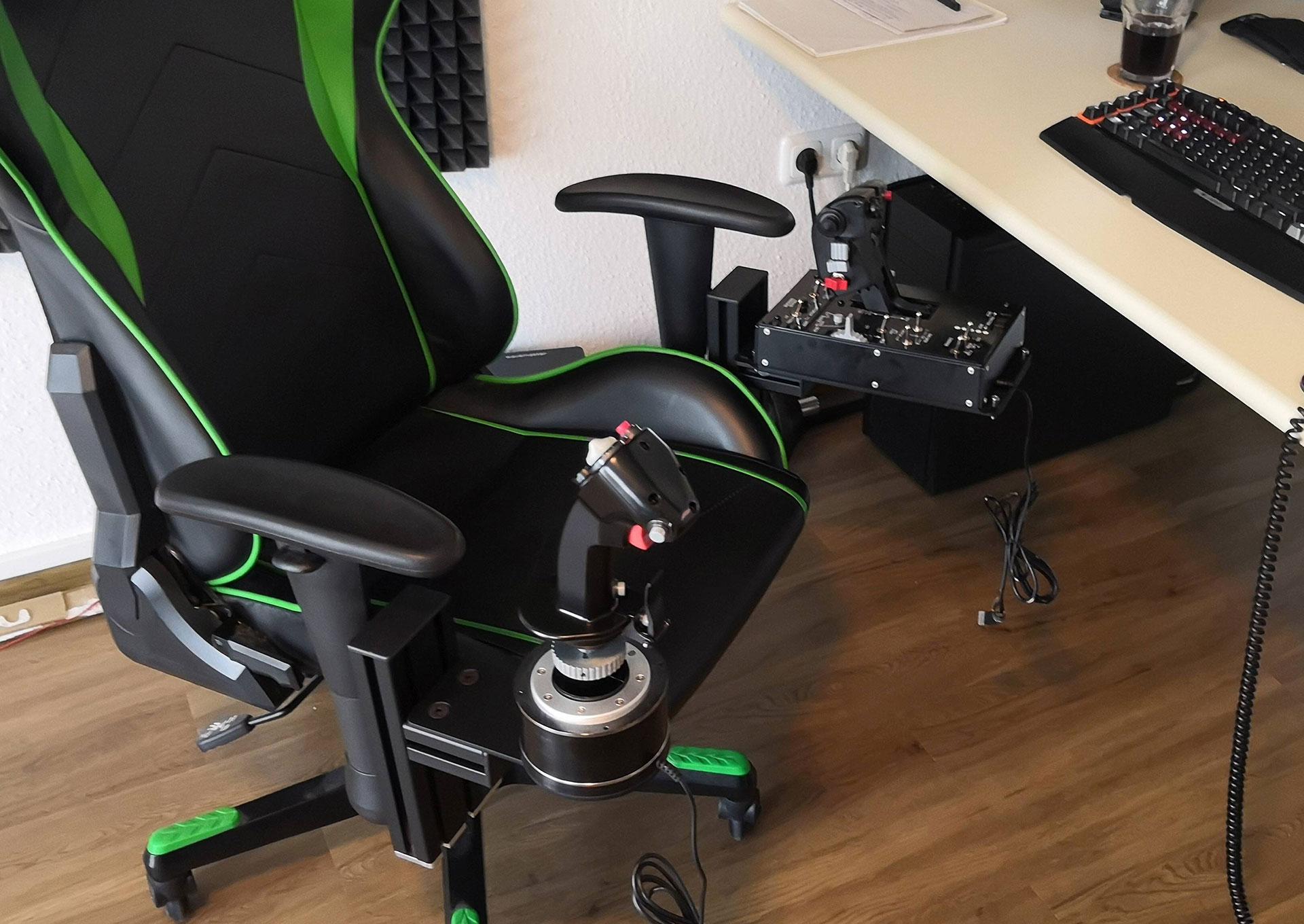 Joystick Hotas Chair Mount Monstertech