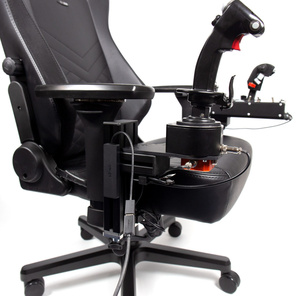 Hotas Chair Mount Set With Noblechairs Hero Monstertech